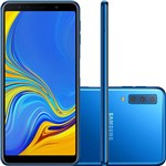 "Smartphone Samsung Galaxy A7 64GB Dual Chip Android 8.0 Tela 6"" Octa-Core 2.2GHz 4G Câmera Triple - Azul"