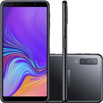"Smartphone Samsung Galaxy A7 64GB Dual Chip Android 8.0 Tela 6"" Octa-Core 2.2GHz 4G Câmera Triple - Preto"