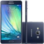 """Smartphone Samsung Galaxy A7 Dual Chip Desbloqueado Android 4.4 Tela 5.5"""" 16GB 4G Câmera 13MP - Preto"""
