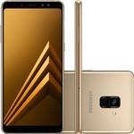 """Smartphone Samsung Galaxy A8+, 4g Android 7.1 Octa Core 64gb Câmera 16.0mp Tela 6.0"""", Dourado"""