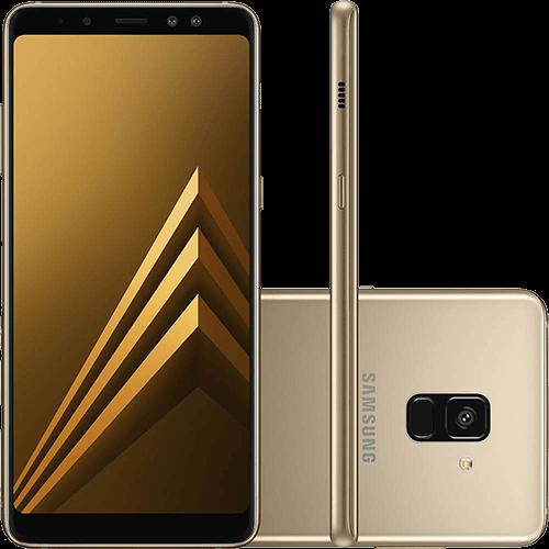 """Smartphone Samsung Galaxy A8 Dual Chip Android 7.1 Tela 5.6"""" Octa-Core 2.2GHz 64GB 4G Câmera 16MP - Dourado"""