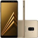 "Smartphone Samsung Galaxy A8 Plus 64gb + Capa e Película Dual Chip Android 7.1 Tela 6"" Octa-core 2.2ghz 4g Câmera 16mp - Dourado"