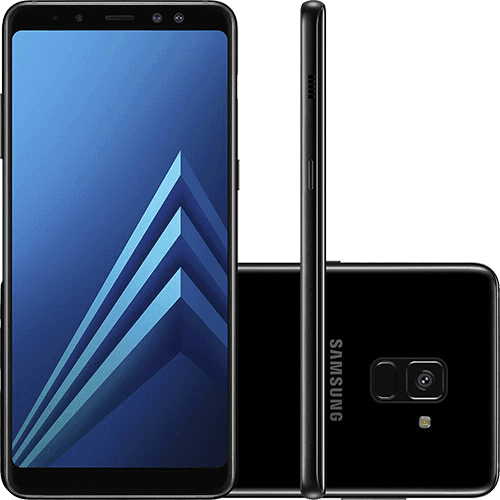 "Smartphone Samsung Galaxy A8 Plus Dual Chip Android 7.1 Tela 6"" Octa-Core 2.2GHz 64GB 4G Câmera 16MP - Preto"