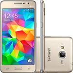 "Smartphone Samsung Galaxy Gran Prime Duos 4G Dual Chip Desbloqueado Android Tela LCD TFT 5"" 8GB WI-FI/3G/4G Câmera 8MP - Dourado"