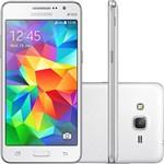 "Smartphone Samsung Galaxy Gran Prime Duos Chip Desbloqueado Android 4.4 Kit Kat Tela 5"" 8GB 3G Câmera 8MP - Branco"
