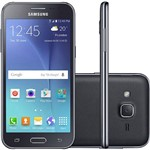 "Smartphone Samsung Galaxy J2 Duos Dual Chip Desbloqueado Oi Android 5.1 Tela Super AMOLED 4,7"" 8GB 3G/G/Wi-Fi Câmera 5MP - Preto"