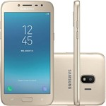 "Smartphone Samsung Galaxy J2 Pro Dual Chip Android 7.1 Tela 5"" Quad-Core 1.4GHz 16GB 4G Câmera 8MP - Dourado"