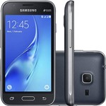 "Smartphone Samsung Galaxy J1 Mini Desbloqueado Vivo Dual Chip Android 5.1 Tela 4"" Quad-Core 1.2GHz 8GB 4G Câmera 5MP - Preto"
