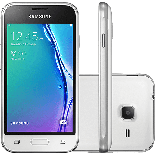 "Smartphone Samsung Galaxy J1 Mini Dual Chip Android 5.1 Tela 4"" 8GB 3G Wi-Fi Câmera 5MP - Branco"