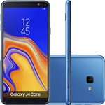 "Smartphone Samsung Galaxy J4 Core 16GB Nano Chip Android Tela 6"" Quad-Core 1.4GHz 4G Câmera 8MP - Azul"