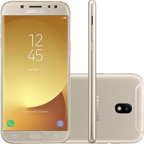 "Smartphone Samsung Galaxy J5 Pro Dual Chip Android 7.0 Tela 5,2"" Octa-Core 1.6 GHz 32GB 4G Câmera 13MP - Dourado"