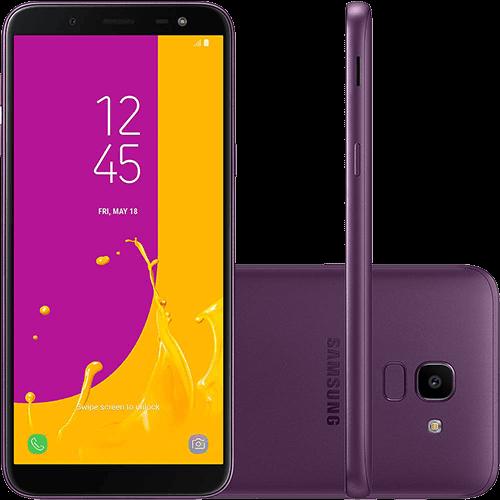 "Smartphone Samsung Galaxy J6 64GB Dual Chip Android 8.0 Tela 5.6"" Octa-Core 1.6GHz 4G Câmera 13MP - Violeta"