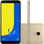 """Smartphone Samsung Galaxy J6 32gb + Capa e Pelicula Dual Chip Android 8.0 Tela 5.6"""" Octa-core 1.6ghz 4g Câmera 13mp com Tv - Dourado"""