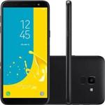 "Smartphone Samsung Galaxy J6 32gb Dual Chip Android 8.0 Tela 5.6"" Octa-core 1.6ghz 4g Câmera 13mp + Micro Sd Classe 10 32gb - Preto"