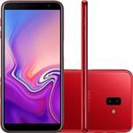 """Smartphone Samsung Galaxy J6+ 32GB Dual Chip Android Tela Infinita 6"""" Quad-Core 1.4GHz 4G Câmera 13 + 5MP (Traseira) - Vermelho"""