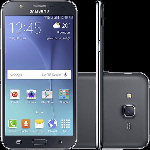 "Smartphone Samsung Galaxy J7 Duos Dual Chip Android 5.1 Tela 5.5"" 16GB 4G Câmera 13MP - Preto"