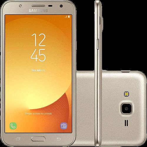 """Smartphone Samsung Galaxy J7 Neo Dual Chip Android 7.0 Tela 5.5"""" 16GB 4G Câmera 13MP - Dourado"""