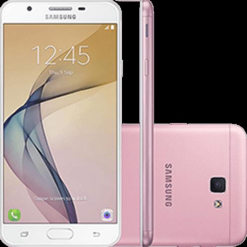"""Smartphone Samsung Galaxy J5 Prime Dual Chip Android 6.0 Tela 5"""" Quad-Core 1.4 GHz 32GB 4G Wi-Fi Câmera 13MP com Leitor de Digital - Rosa"""