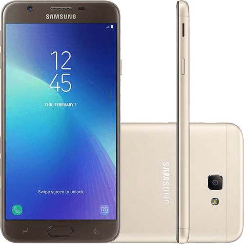 "Smartphone Samsung Galaxy J7 Prime 2 Dual Chip Android 7.1 Tela 5.5"" Octa-Core 1.6GHz 32GB 4G Câmera 13MP com TV - Dourado"