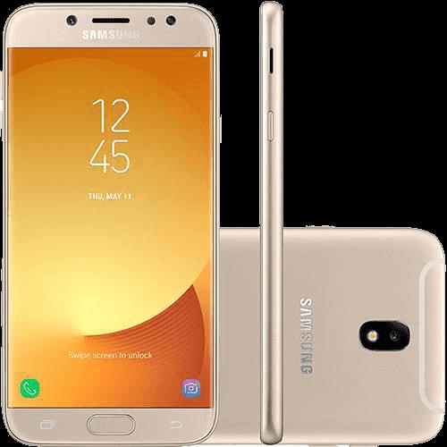 "Smartphone Samsung Galaxy J7 Pro Android 7.0 Tela 5.5"" Octa-Core 64GB 4G Wi-Fi Câmera 13MP - Dourado"