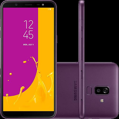 "Smartphone Samsung Galaxy J8 64GB Dual Chip Android 8.0 Tela 6"" Octa-Core 1.8GHz 4G Câmera 16MP F1.7 + 5MP F1.9 (Dual Cam) - Violeta"