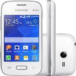 "Smartphone Samsung Galaxy Pocket 2 Duos Dual Chip Desbloqueado Android Tela 3.3"" 4GB 3G Wi-Fi Câmera 2MP - Branco"