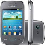 "Smartphone Samsung Galaxy Pocket Neo S5310 Desbloqueado Android Tela 3"" 4GB 3G Wi-Fi Câmera 2MP - Cinza"