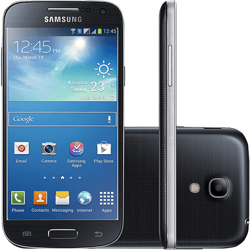 "Smartphone Samsung Galaxy S4 Mini Duos Dual Chip Desbloqueado Android 4.2 Tela 4.3"" 8GB 3G Wi-Fi Câmera 8MP - Preto"