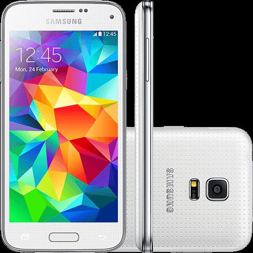 "Smartphone Samsung Galaxy S5 Mini Duos Dual Chip Desbloqueado Android 4.4 Tela 4.5"" 16GB 3G Wi-Fi Câmera 8MP GPS - Branco"