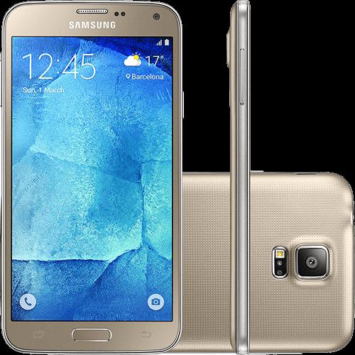 "Smartphone Samsung Galaxy S5 New Edition Ds Dual Chip Desbloqueado Android 5.1 Tela 5.1"" 16GB 4G 16MP - Dourado"