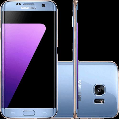 "Smartphone Samsung Galaxy S7 Edge Android 6.0 Tela 5.5"" 32GB 4G Câmera 12MP - Azul"