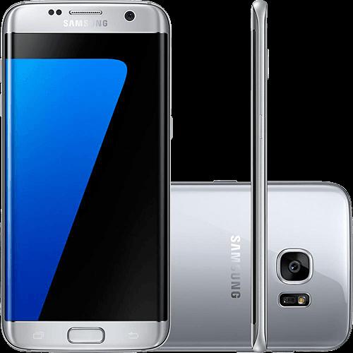 "Smartphone Samsung Galaxy S7 Edge Android 6.0 Tela 5.5"" 32GB 4G Câmera 12MP - Prata"