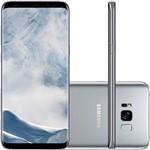 "Smartphone Samsung Galaxy S8+ Desbloqueado Vivo Dual Chip Android 7.0 Tela 6.2"" 64GB 4G Câmera 12MP - Prata"