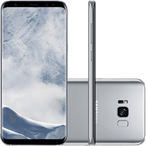 "Smartphone Samsung Galaxy S8+ Dual Chip Android 7.0 Tela 6.2"" Octa-Core 2.3 GHz 64GB Câmera 12MP - Prata"