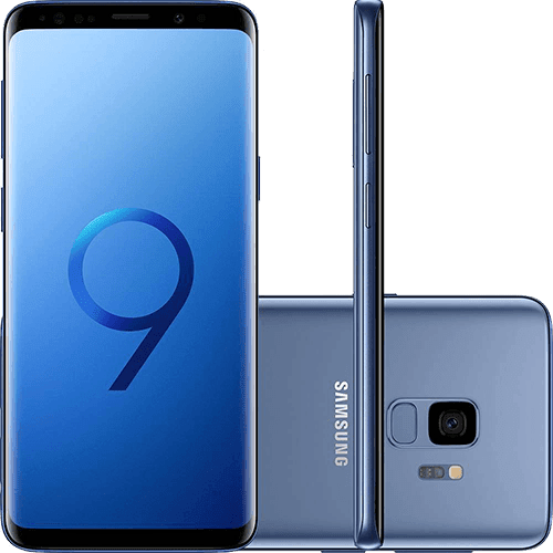 "Smartphone Samsung Galaxy S9 Dual Chip Android 8.0 Tela 5.8"" Octa-Core 2.8GHz 128GB 4G Câmera 12MP - Azul"