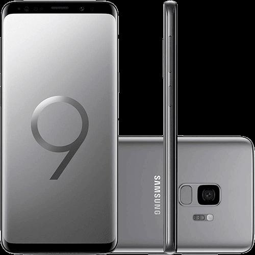 "Smartphone Samsung Galaxy S9 Dual Chip Android 8.0 Tela 5.8"" Octa-Core 2.8GHz 128GB 4G Câmera 12MP - Cinza"