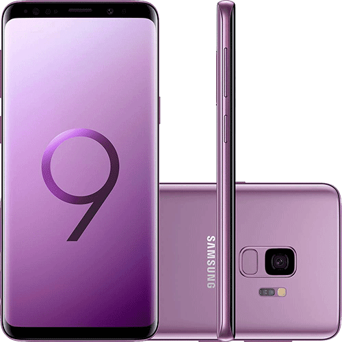 "Smartphone Samsung Galaxy S9 Dual Chip Android 8.0 Tela 5.8"" Octa-Core 2.8GHz 128GB 4G Câmera 12MP - Ultravioleta"