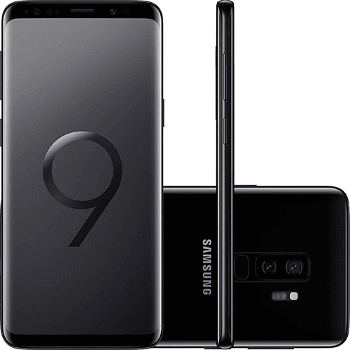 "Smartphone Samsung Galaxy S9+ Dual Chip Android 8.0 Tela 6.2"" Octa-Core 2.8GHz 128GB 4G Câmera 12MP Dual Cam - Preto"