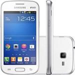 Smartphone Samsung Galaxy Trend Lite Duos Dual Chip Desbloqueado Android 4.1 4GB 3G Wi-Fi Câmera 3MP - Branco