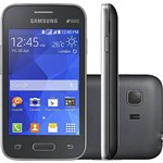 "Smartphone Samsung Galaxy Young 2 Duos Dual Chip Desbloqueado Android 4.4 Tela 3.5"" 4GB 3G Câmera 3MP TV Digital - Cinza"