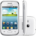 Smartphone Samsung Galaxy Young Plus Dual Chip Desbloqueado Android 4.1 4GB 3G Wi-Fi Câmera 3MP TV - Branco