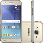 """Smartphone Samsung SM-J500 Galaxy J5 Dual Chip Android Tela 5"""" 16GB 3G/4G/Wi-Fi Câmera 13MP - Dourado"""
