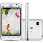 Smartphone Tri Chip LG Optimus L4 II Desbloqueado Branco Android 3G Wi-Fi Câmera Memória Interna 4GB TV Digital