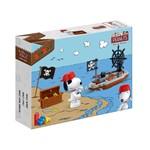 Snoopy Fierce Pirate Barco Pirata 42 Peças - Banbao