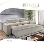 Sofá Estofado Retrátil e Reclinável 2,30m Istambul - Bianchi Móveis