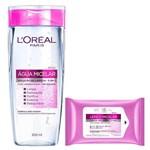 Solução de Limpeza Micelar Facial 5 em 1 Loréal Paris - Água Micelar + Lenço Micelar