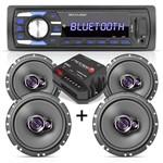 Som Automotivo Bluetooth Multilaser + 04 Falantes 6 Pioneer + Módulo Stetsom