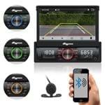 """Som Automotivo Quatro Rodas Retrátil 7.0"""" MTC6613, Bluetooth, USB, Câmera de Ré, Auxiliar, Touch Screen, Micro SD, Viva-voz e 25Wx4"""