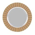 Sousplat Aço Inox e Bambu