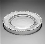 Sousplat Cristal Pearl Silver 31,5cm